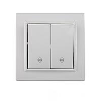 Выключатель двойной проходной ElectroHouse серия Enzo цвет белый EH-2107