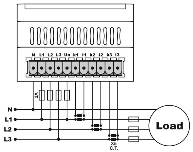 схема подключения мультиметра EM-06DIN