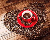 Картина по номерам Чашка зернового кофе, 40x50 см., Rainbow art