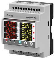 Мультиметр модульный электронный вольтметр + амперметр + частотомер цифровой на DIN дин рейку рельсу цена