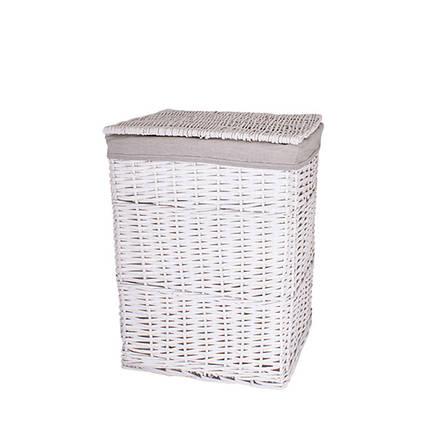 Корзина для белья плетеная с крышкой белая AWD02241594
