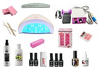 Стартовый набор для ногтей Kodi с лампой Sun One и фрезером Lina 25000 оборотов