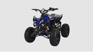Электромобиль - квадроцикл PROFI с мощным двигателем. Синего цвета