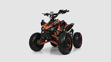 Электромобиль - квадроцикл PROFI с мощным двигателем. Оранжевого цвета