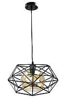 """Люстра потолочная подвесная в стиле """"LOFT"""" (лофт) (30х40х40 см.) Черный матовый YR-11870/1"""