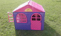 Игровой домик для детей от 1 года фиолетово розовый крышей для девочек Doloni Toys