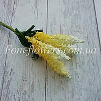 Сложные тычинки на проволоке Лаванда, жёлтая, фото 1