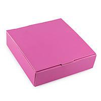 Упаковка для конфет с 4 ячейками розовая 112*112*30мм