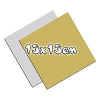 Подложка золото/серебро 130*130 квадратная