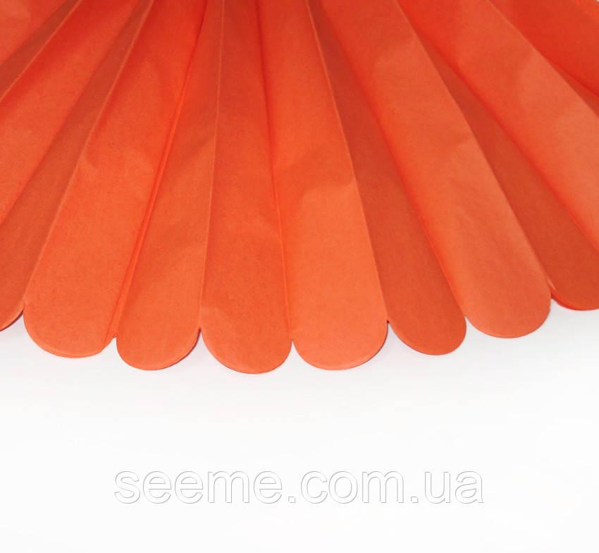 Бумажные помпоны из тишью «Orange», диаметр 25 см.