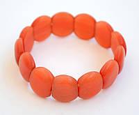 Оранжевый браслет из кошачьего глаза.
