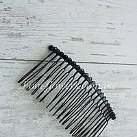 Гребень для волос металлический,черный., фото 1