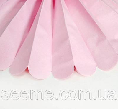 Паперові помпони з тишею «Light Pink», діаметр 25 див.