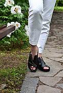 Женские босоножки Windrose натуральная кожа с открытой пяточкой, фото 4