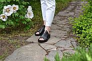 Женские босоножки Windrose натуральная кожа с открытой пяточкой, фото 7