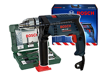 Ударная дрель  BOSCH GSB 13 RE в комплекте с набором из 41 штук сверл и бит, фото 1