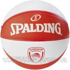 М'яч баскетбольний Spalding EL Team Olympiacos Piraeus Size 7, фото 2