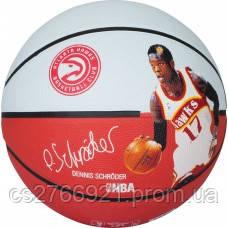 М'яч баскетбольний Spalding NBA Player Dennis Schroeder Size 7, фото 2