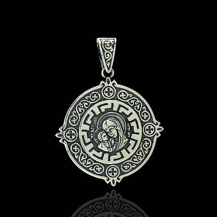 Серебряная подвеска-ладанка Святая Богородица, 6 грамм, фото 2