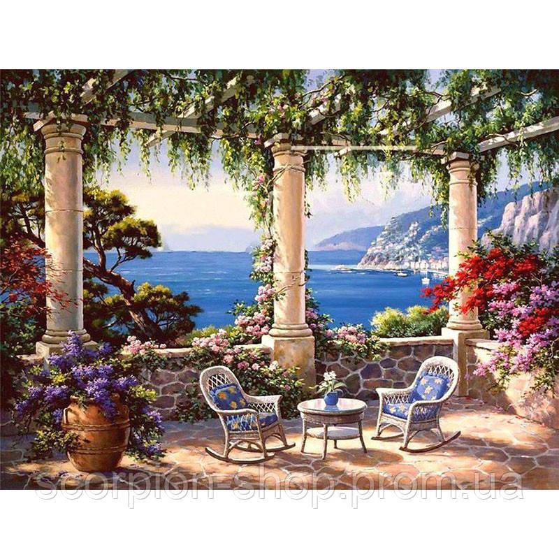 Картина по номерам «Средиземноморская терраса» (40*50 см)