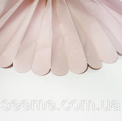 Паперові помпони з тишею «Bermuda Sand», діаметр 25 див.