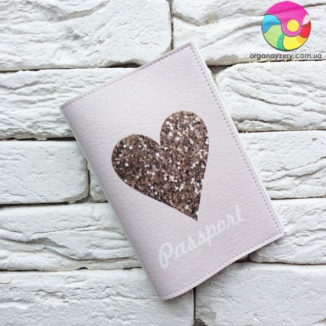 Обложка для паспорта Милое сердце