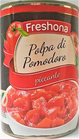 Консервированные помидоры Freshona Polpa Piccante 400 г, фото 2