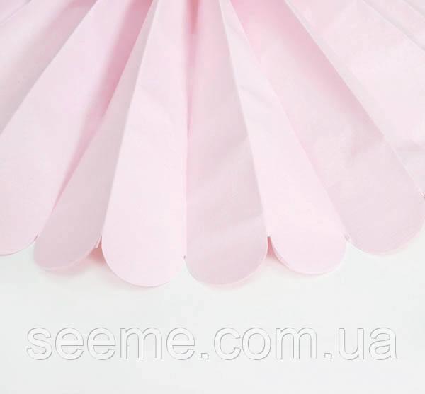 Бумажные помпоны из тишью «Blush», диаметр 25 см.