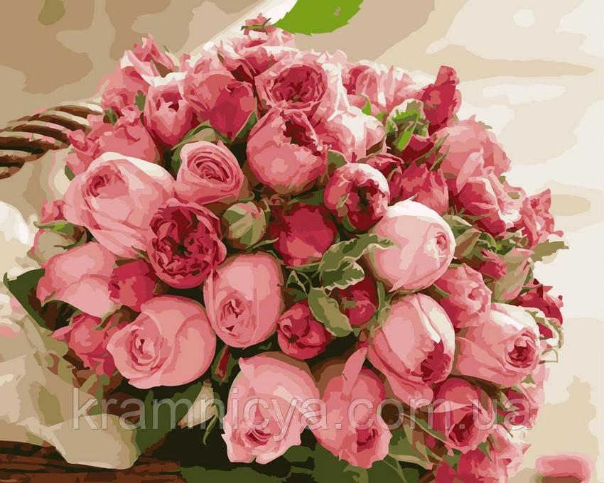Картина за номерами 40х50 Букет троянд (GX4918)