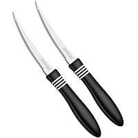 Нож для томатов Tramontina COR & COR, 102 мм, чёрная ручка, 2 шт.