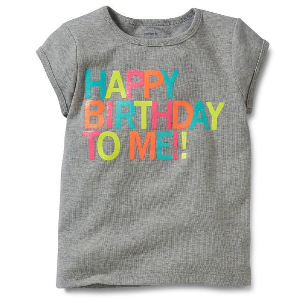 Топ футболка для девочки Carters с днем рожденья меня