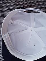 Кепка реперка с прямым козырьком на девочку лето белого цвета (Польша) размер 54, фото 2