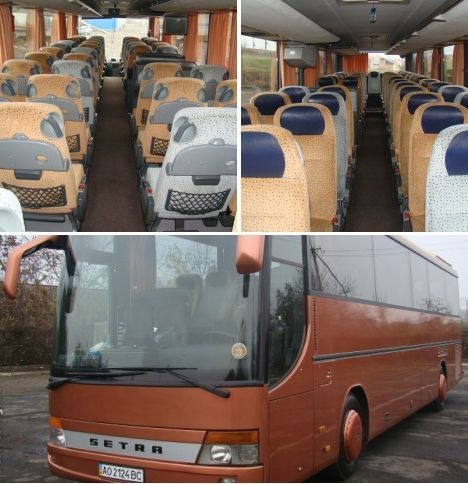 Прекрасное решение для выезда из Ужгорода в Евуропу группой на автобус SETRA ( 49 + 1 место ), базовый тариф  0,8 — 0,9 евро / 1 км пути