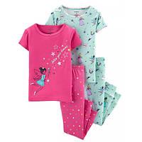 Набор из 2х хлопковых пижам для девочки Carters короткий рукав феи
