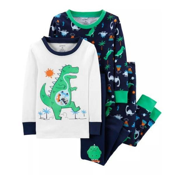 Набор из 2х хлопковых пижам для мальчика Carters голодный динозавр