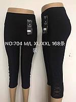 Бриджи женские бамбук+микромасло 3/4 Kenalin, размер M-L, чёрные, 704