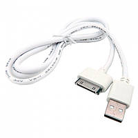 Дата кабель Apple 30-Pin to USB Walker 110 (iPhone 4, iPad 2) White