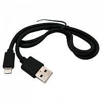 Дата кабель  Lightning to USB Walker 110 Black