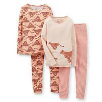 Набор из 2х хлопковых пижам для девочки Carters леопард