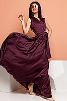 Длинное шелковое платье большого размера (M, L)