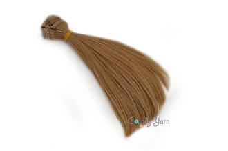 Волосы для кукол прямые-трес 15см*100см, Ореховый