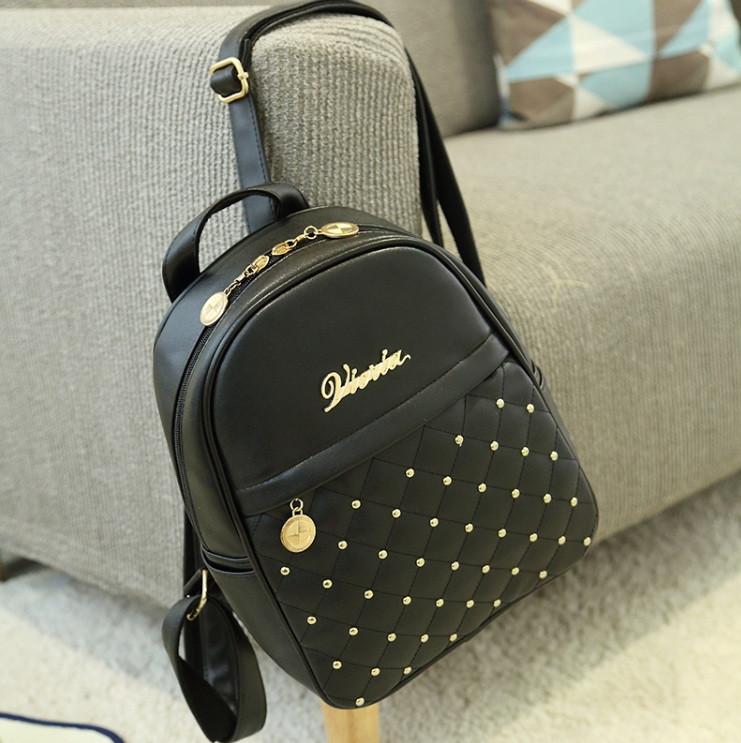 Чорний жіночий рюкзак міні