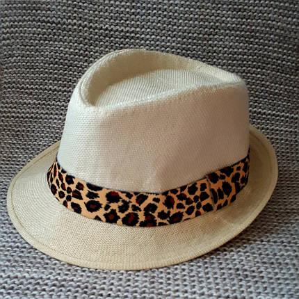 Шляпка на девочку лето бежевого цвета (Украина) размер 48 50, фото 2