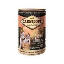 Паштет Carnilove Puppy Salmon&Turkey с высоким содержанием мяса лосося и индейки для щенков всех пород
