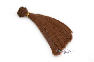 Волосы для кукол прямые-трес 15см*100см, Коричневый