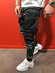 Мужские стильные джинсы (серо-зеленые) - Турция, фото 3