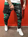 Мужские стильные джинсы (серо-зеленые) - Турция, фото 2
