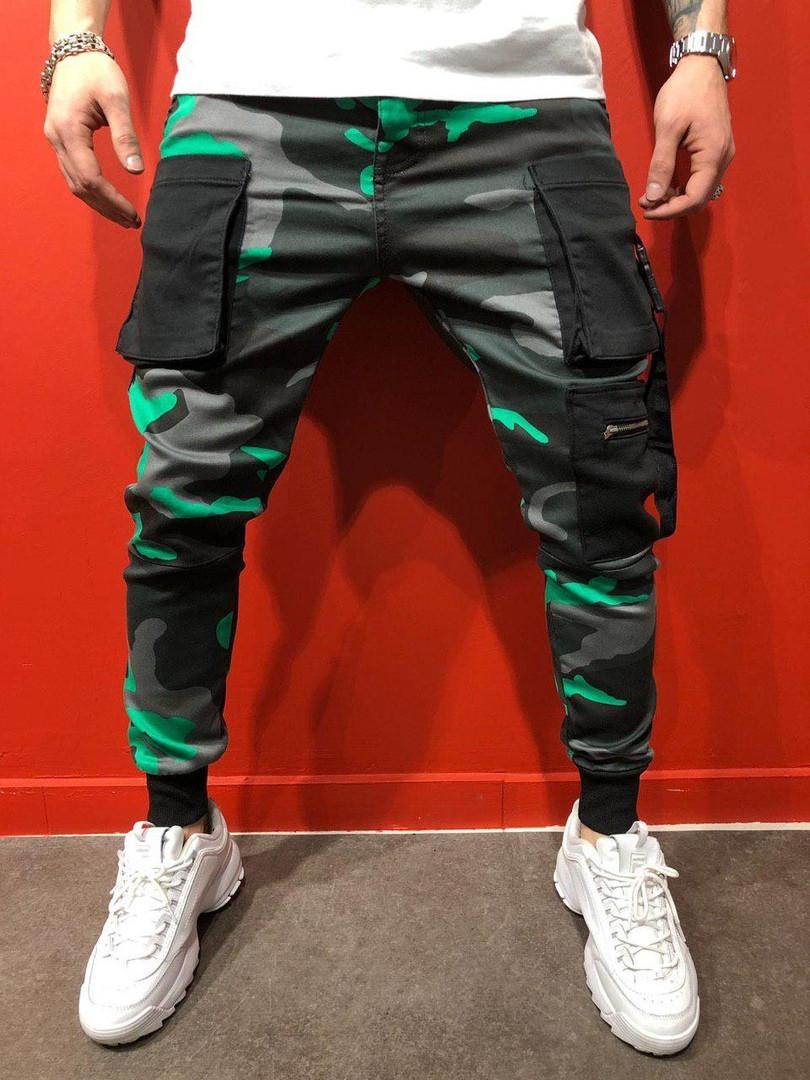 Мужские стильные джинсы (серо-зеленые) - Турция