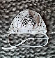 Шапочка на девочку лето белого цвета (Украина) размер 36