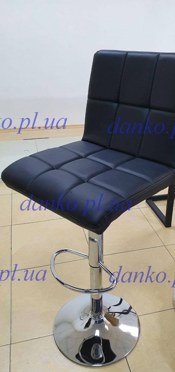 Барный стул Даниэль черный кожзам от SDM Group, стул визажиста